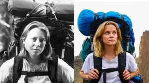A la derecha Cheryl Strayed y a la izquierda Reese Witherspoon